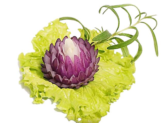 4 cách tỉa hoa trang trí món ăn đẹp mắt từ hành tây