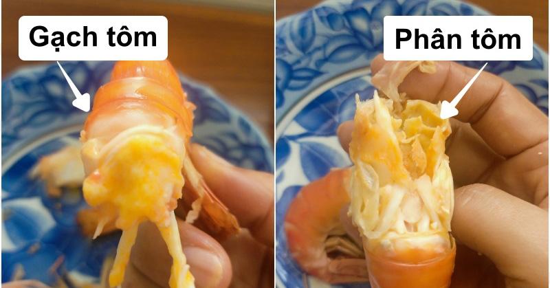 Ăn tôm nhiều nhưng các chị em có phân biệt được đâu là gạch tôm, đâu là... phân tôm chưa?
