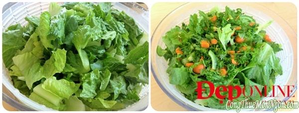 Bảo quản rau củ làm salad vài ba ngày vẫn tươi