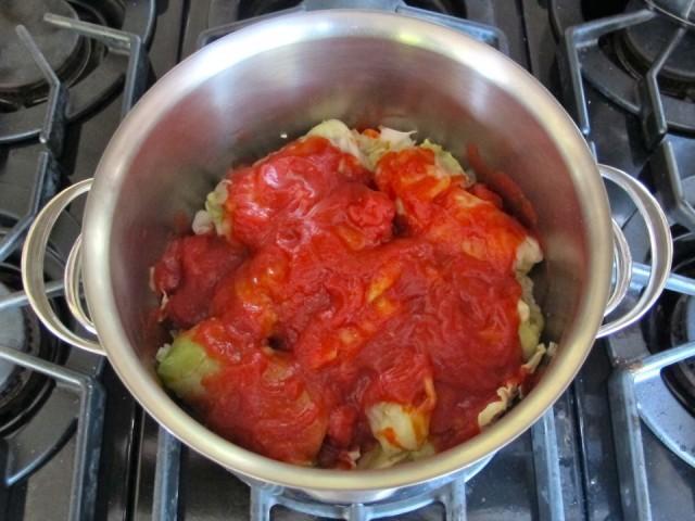 Bắp cải cuộn thịt xốt cà chua kiểu mới