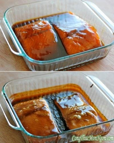 Cá hồi xốt Teriyaki đổi món cho bữa tối