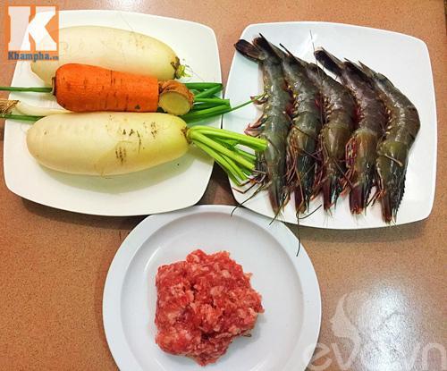 Cách chế biến món củ cải cuộn tôm thịt hấp siêu hấp dẫn