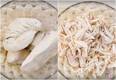 Cách làm khô gà xé cay bằng chảo và lò nướng cho mùa World Cup