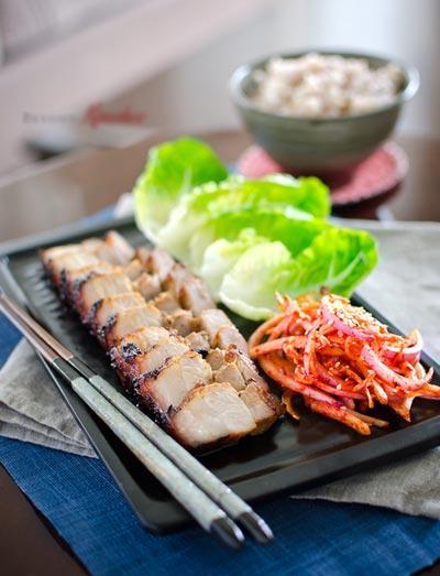 Cách làm món thịt ba chỉ nướng kiểu Hàn ngon hết ý