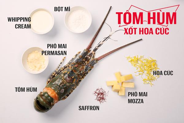 Cách làm món tôm hùm nướng xốt hoa cúc