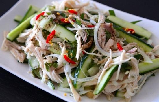 Cách làm salad thịt gà dưa chuột cực ngon cho bữa cơm