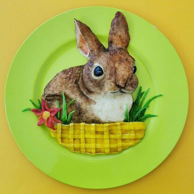 Cơm đĩa biến thành 'vườn bách thú'