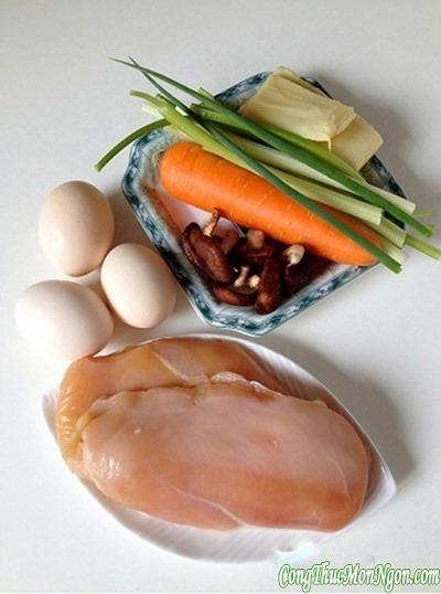Công thức làm món trứng bọc gà, nấm