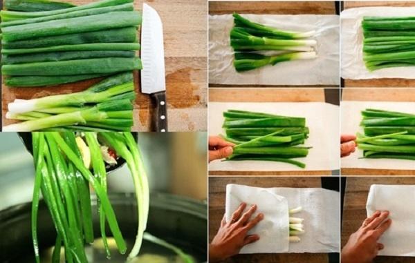 Đừng chỉ bảo quản hành lá bằng ngăn mát tủ lạnh, làm theo cách này hành để cả tháng vẫn tươi thơm, không lo bị hỏng