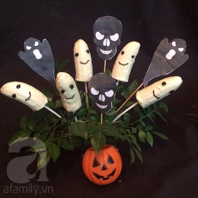 Hô biến trái chuối thành chú ma dễ thương cho ngày lễ Halloween