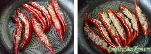 Hướng dẫn làm món ớt nhồi thịt lạ miệng cho bạn thích ăn cay
