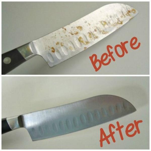Kì tích nào đã biến con dao chi chít gỉ sét trở nên sáng như mới thế này
