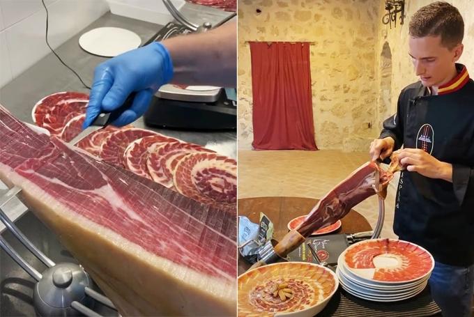 Kỹ nghệ thái thịt lợn đắt tiền mỏng như tờ giấy
