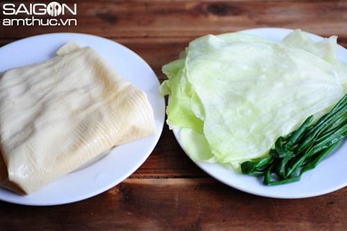 Lạ miệng thịt cuộn bắp cải hấp nước tương