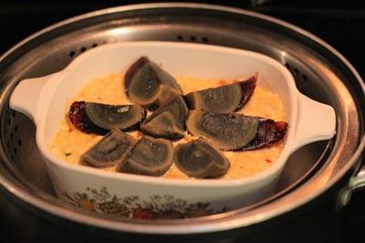 Món đậu phụ non hấp trứng bách thảo