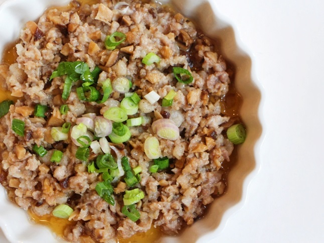Món thịt băm hấp nấm hương dễ làm, thơm ngon