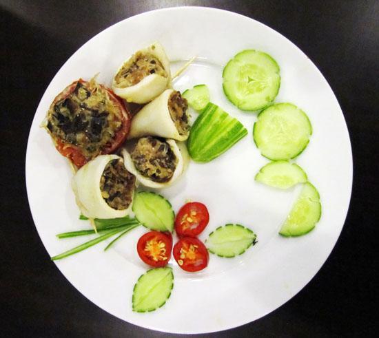 Mực nhồi thịt hấp và công thức nấu ăn siêu tốc