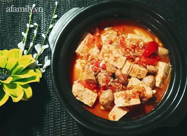 Ngày chay làm ngay món đậu hũ sa tế cay ngon ăn trong tiết trời lạnh là ngon số 1!