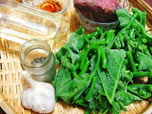 Rau bí xào thịt bò cực ngọt cho bữa tối