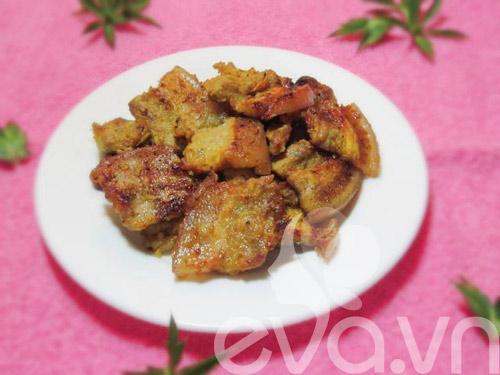 Thịt ba chỉ nướng riềng mẻ thơm phức