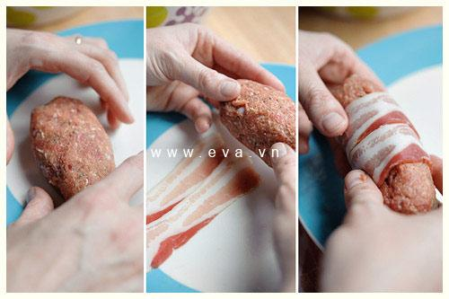 Thịt cuộn nướng thơm phức bữa cơm chiều