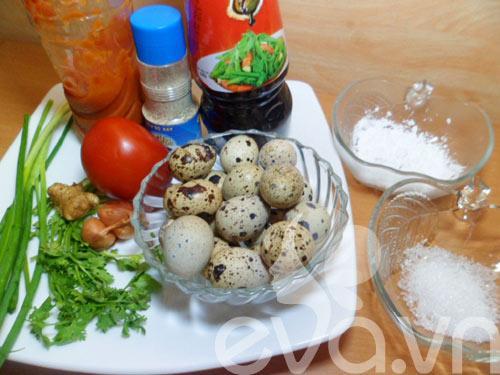 Trứng chim cút xốt chua ngọt ngày mưa