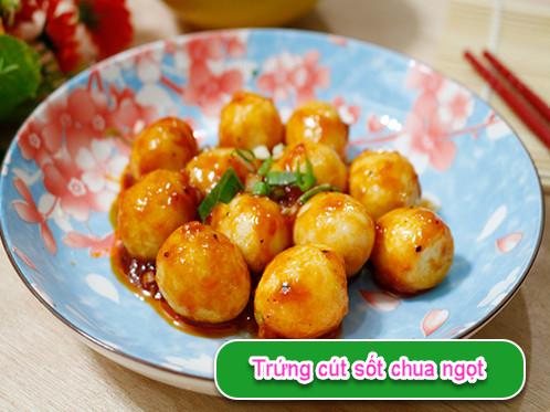 Trứng cút sốt chua ngọt đơn giản nhưng trôi cơm, nhìn chỉ muốn ăn ngay
