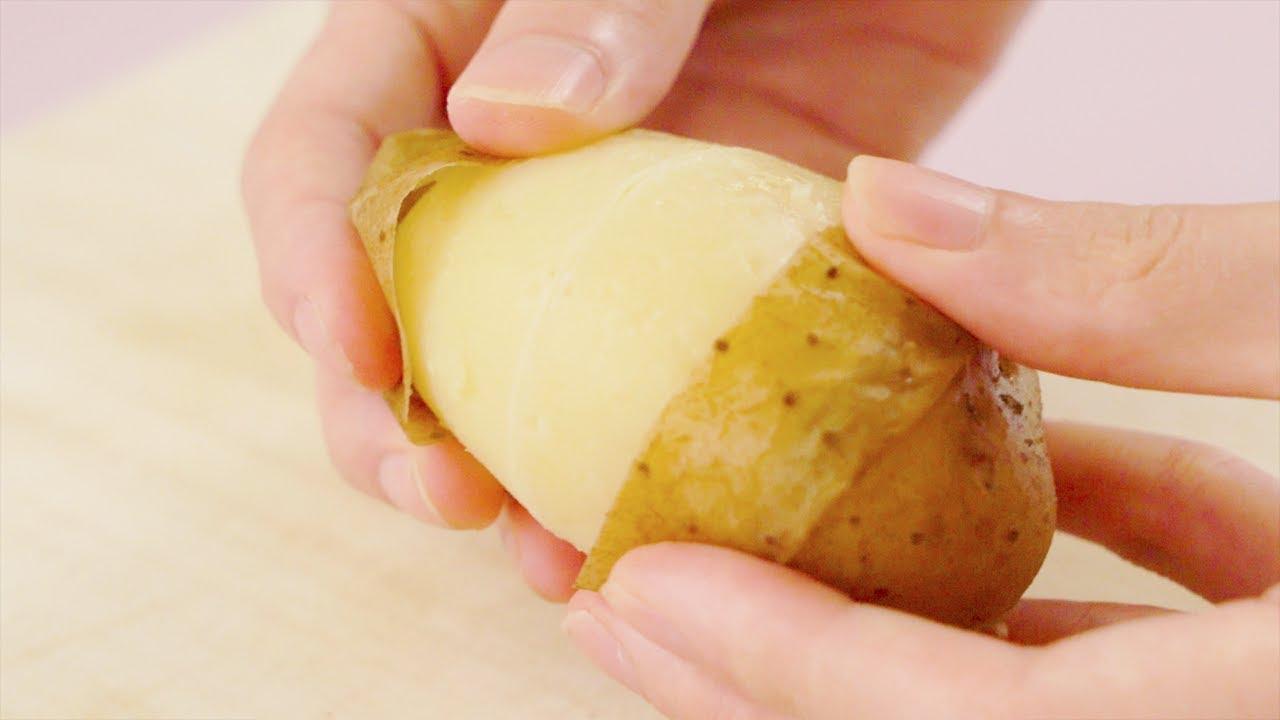 VIDEO: Mẹo bóc vỏ khoai tây siêu dễ, chẳng cần bất kỳ dụng cụ nào