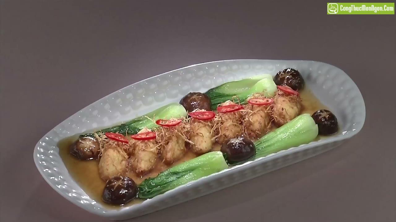 Viên đậu hũ xốt nước tương