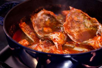 Xuýt xoa cua sốt ớt kiểu Hàn